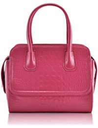 KCMODE Mesdames rose faux Croc Tote Business Office sac à main