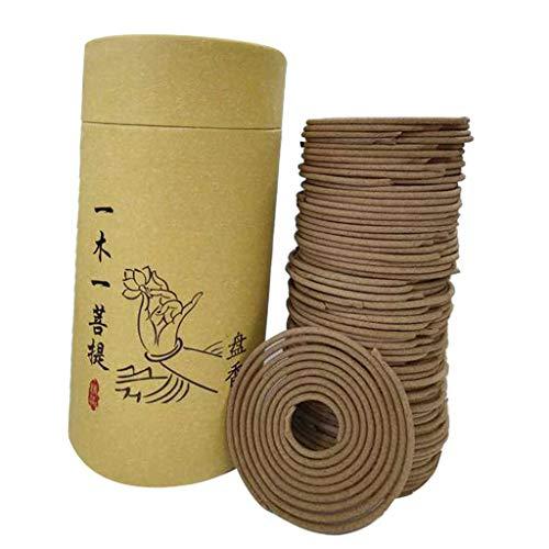 FLAMEER 120 Unids Espiral de Incienso Fragantes Aromáticos Relajación de Meditación - Ay Tsao