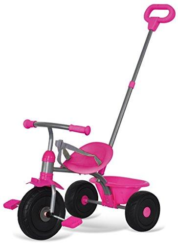 Triciclo per bambini rosa 15+ mesi con maniglione parentale removibile
