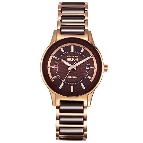 ALEXANDER MILTON - montre femme - KEA, marron/dore rose