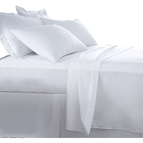 Burrito Blanco Juego de Sábanas Blanco de Hostelería para Cama de Matrimonio de 180 cm x 190/200 cm (Disponible en Más Medidas)