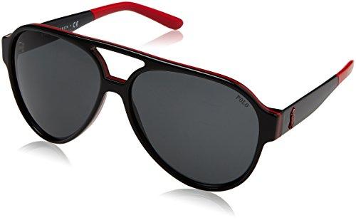 Polo 0ph4130 566887, occhiali da sole uomo, nero red/black/grey, 61