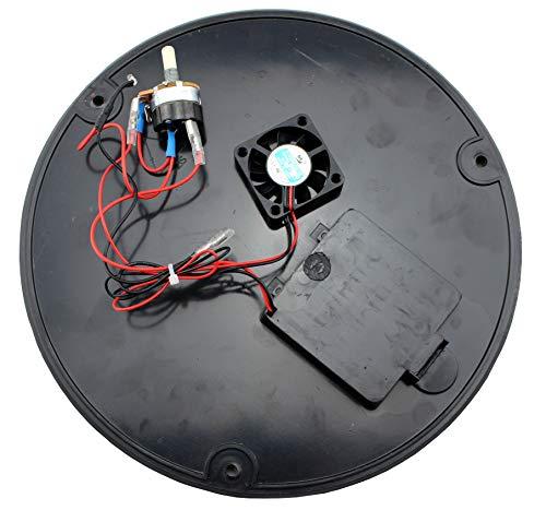 LotusGrill Ersatzteil Bodenplatte mit Ventilator und Schaltaggregat - Einbaufertig und verkabelt für den Lotusgrill