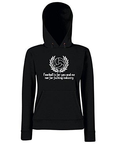 T-Shirtshock - Sweats a capuche Femme TUM0148 AGAINST MODERN FOOTBALL Noir