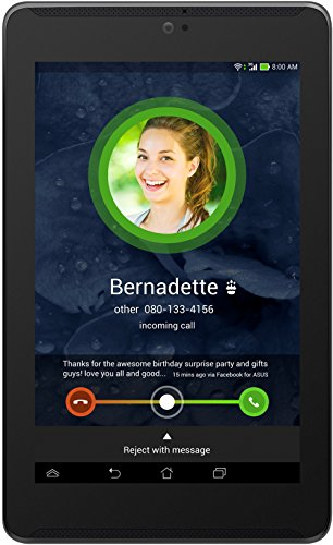 Asus Fonepad 7 LTE ME372CL-1B020A 17,8 cm (7 Zoll) Tablet-PC (Intel Atom Z2560, 1,6GHz, 1GB RAM, 8GB HDD, SGX544MP2 Grafik, Touchscreen, Android) schwarz