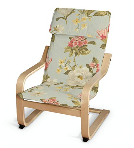 Dekoria Poäng Kissen für den Kindersessel Sesselhusse passend für IKEA Modell Klappsta helllblau