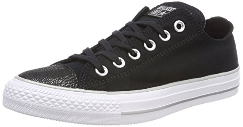 Converse CTAS OX BLACK/SILVER/WHITE, Damen Low-top, Schwarz (Black/Silver/White 001), 39.5 EU -