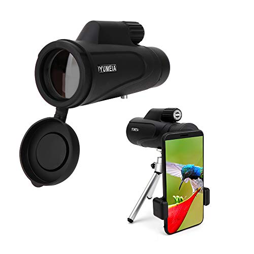 Monokular-Teleskop - 16 x 50 Hochleistungs-Prismen-Spektiv mit Schnell-Smartphone-Halterung und Stativ - Vogelbeobachtung Jagd Camping Wildtiere Reisen für Erwachsene
