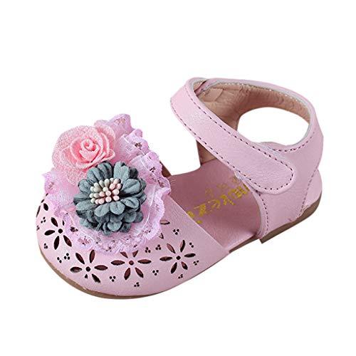 Blumen Schuhe MäDchen, Kinder süße Elegante Prinzessin Sandalen für Party, Infant Pre Walker Schuhe, Krippe Schuhe -