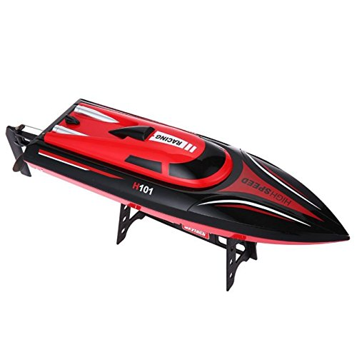 SZJJX RC Boat 2.4GHz 4 Channels Remote Control Electric Racing Boat 30KM/H High Speed Automatically 180 Degree Flipping Transmitter with LCD Screen Red review