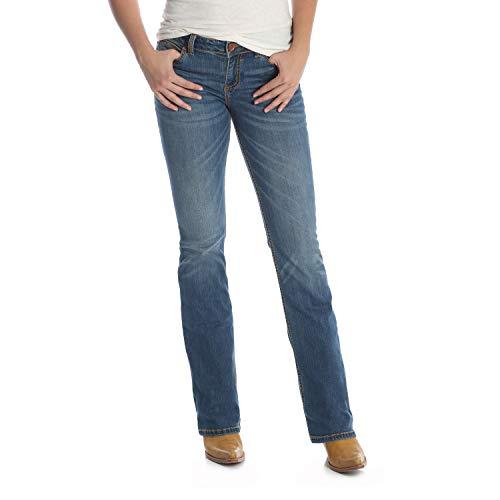 Wrangler Damen Retro Mid Rise Boot Cut Jeans, Mittelblau, 9W x 32L