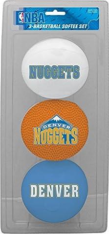 NBA Denver Nuggets Kids Softee Basketball (Set of 3), Small, Blue