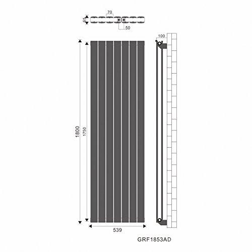 1de65d2abf965c Test Design Flach Heizkörper 1800x539mm Antrazit Paneelheizkörper ...