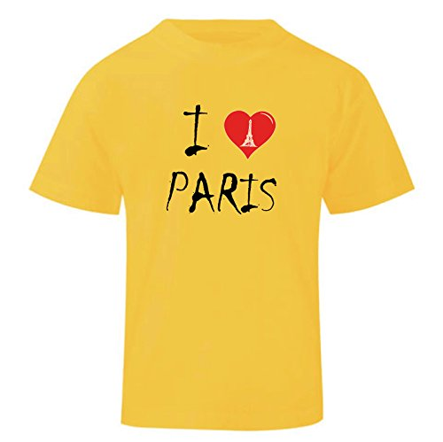Art t-shirt, maglietta i love paris, bambino, giallo, 13-14 anni