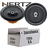 Hertz DCX 165.3-16cm Koax Lautsprecher - Einbauset für Ford KA Front - JUST SOUND best choice for caraudio