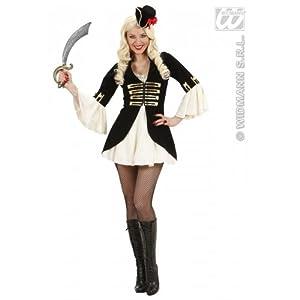 WIDMANN wdm76373?Disfraz para adulto Capitán Pirata para mujer, blanco, L