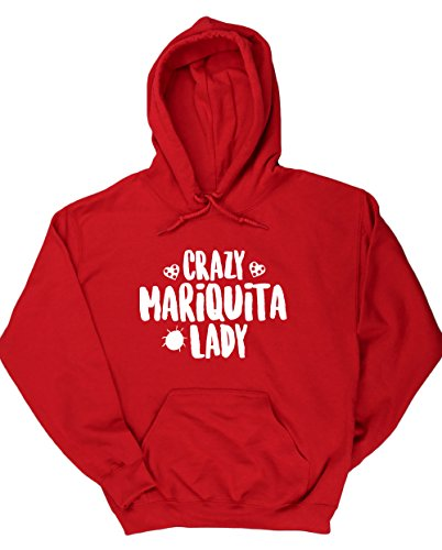 hippowarehouse-crazy-mariquita-lady-jersey-sudadera-con-capucha-sueter-derportiva-unisex