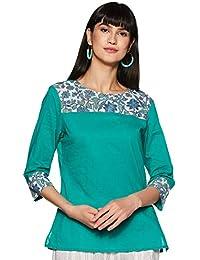 Amazon Brand - Myx Women's Straight Cotton Kurta
