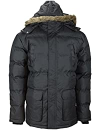 Soul Star Mens Hooded Jacket Warm Winter Parka Padded Puffer Military Style Coat