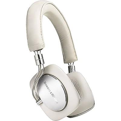 B&W P5 Cuffie HiFi (Cavo di connessione MFi per iPod e iPhone) in metallo e vera pelle, colore: Avorio occasione - Polaris Audio Hi Fi