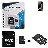 K-S-Trade für Samsung Galaxy J1 (2016) SDHC Micro SD Karte + SD-Karten-Adapter 2in1 Flash Speicherkarte 8GB Klasse 10 Class 10 C10 U1 V10 HC SDHC Higspeed Memorycard Speicherkarte 10MB/sek für Samsung Galaxy J1 (2016)