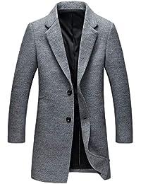 Homme Business Manteau Trench En Casual Chaud Yuandiann Blouson Automne Hiver Coat Long Caban Slim Laine 4paqwxwdZI