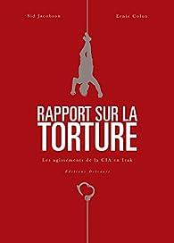 Rapport sur la torture par Sid Jacobson