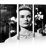 islandburner Bild Bilder auf Leinwand Audrey Hepburn V3 XXL Poster Leinwandbild Wandbild Dekoartikel Wohnzimmer Marke