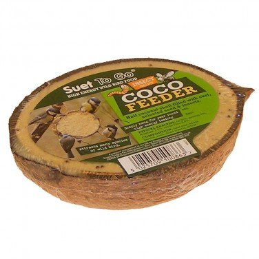 Suet To Go All Natural Coconut Feeder with Real Insects x 10 by Unipet