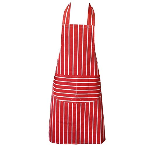 Clay Roberts Grembiule da Chef, Rosso, Grembiule da Cucina, con Doppia Tasca