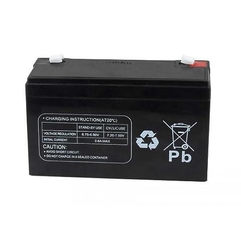 Powery Batterie de remplacement pour véhicule pour enfants, voiture pour enfants et quad pour enfantse 6V 12Ah (substituts 10Ah), 6V, Lead-Acid [ Batterie au plomb ]