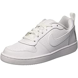 Nike Court Borough Low Gs, Zapatillas de Baloncesto Unisex Niños, Blanco (White / White-White), 38 EU