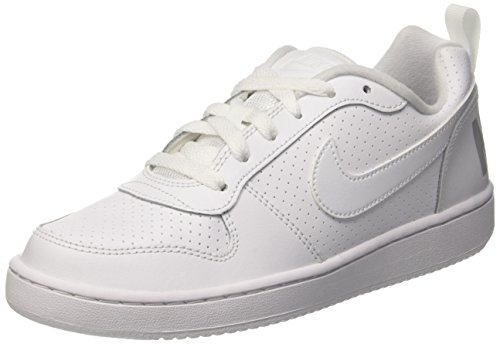 Nike Unisex-Kinder Court Borough Low Sneakers, Blanco (White / White-White), 38.5