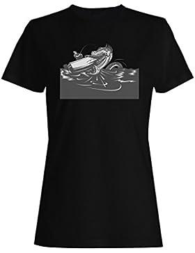 Pescador camiseta de las mujeres e124f