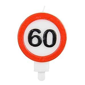 número Vela * Tráfico cartel Número 60*//Tráfico de caracteres Cumpleaños vela vela Cumpleaños