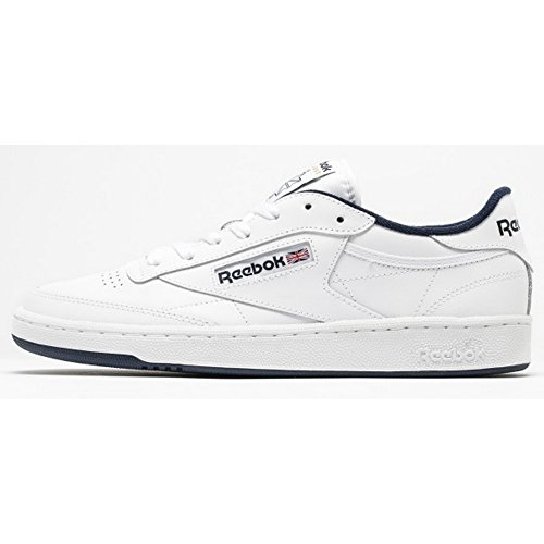 reebok-mens-club-c-85-fitness-shoes-multicolor-white-navy-10-uk
