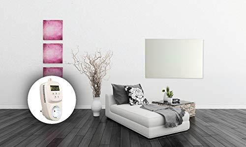 HoWaTech Infrarot Glasheizkörper 60x120cm 1050W Heizpaneel mit Steckdosenthermostat Bild 2*