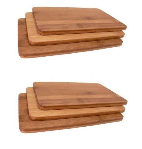 6 Stück Frühstücksbrettchen Bambus Holz Kesper # 54003 Vesperbrettchen Brettchen Brotzeitbrettchen