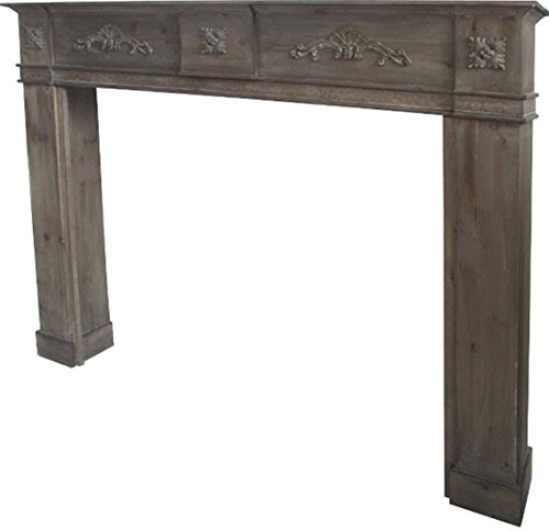 Marco de madera para chimenea