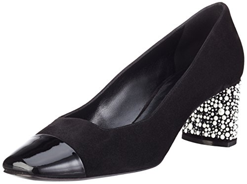 Casadei 1f112e050, Escarpins femme Noir - Schwarz (Black Ooo)