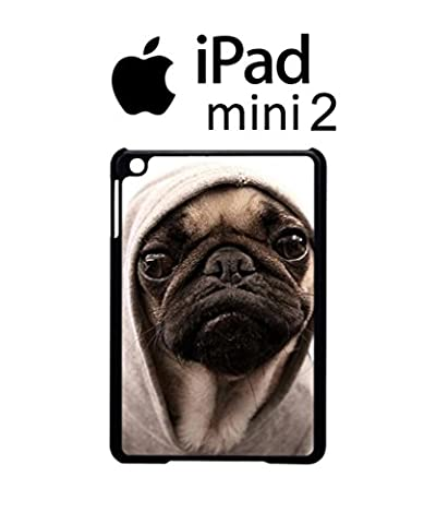 Pug Life Grumpy Dog Funny Hipster Swag Case Back Cover for iPad Mini 2 Tablet White