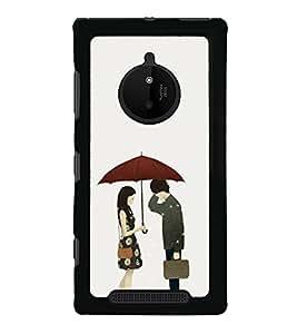 Love Couple 2D Hard Polycarbonate Designer Back Case Cover for Nokia Lumia 830 :: Nokia Lumia 830 RM-984