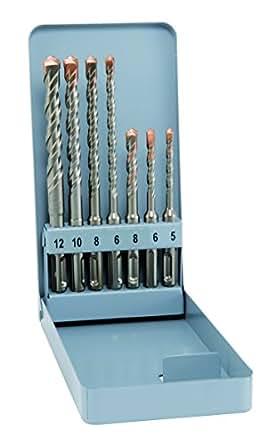 alpen SDS-plus F4 forte à 2 tranchants ø 5, 6, 8 x 110 mm et 6, 8, 10, 12 x 160 mm - 7 pièces, en Gewerbepack 500007100