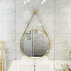 Miroir de salle de bain Accrocher Rond Cadre En Métal Miroir De Courtoisie Moderne Mur Décoratif Miroir Entrée Salle De Bains Salle De Bains Chambre À Coucher Salon Utilisation Convient pour le vestia