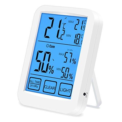 VORCOOL Termómetro Higrometro Digital Pantalla Táctil