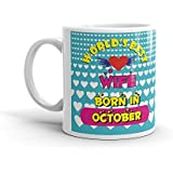 FS Birthday Gift For Wife, Karvachauth Gift For Wife, World Best Wife Born In October Coffee Mug -320ml Diwali Gifts Items Birthday Gifts For Wife