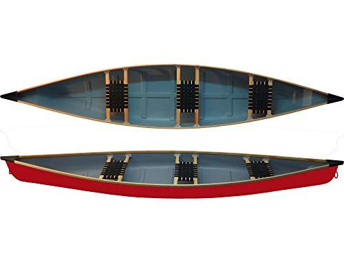 Familienkanu Ontario 3 - Sitzer Kanu Canadier leichtes Kanu zum Superpreis NEU, Farbe:Rot