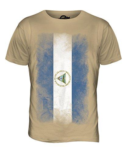 CandyMix Nicaragua Verblichen Flagge Herren T Shirt Sand