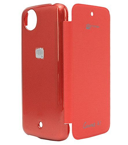 Red Qube Flip Cover For Micromax Canvas A1 Android One (Pink)