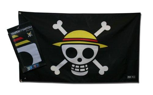 Preisvergleich Produktbild One Piece Piratenflagge / Fahne / Jolly Roger: Skull Ruffy (70 x 120 cm)